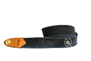 Cesarini guitar strap, blue leather, limited edition