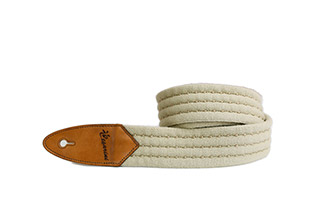 Cesarini guitar strap in fabric, limited edition (cream and black)