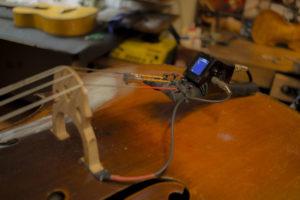 violoncello elettrico acustico