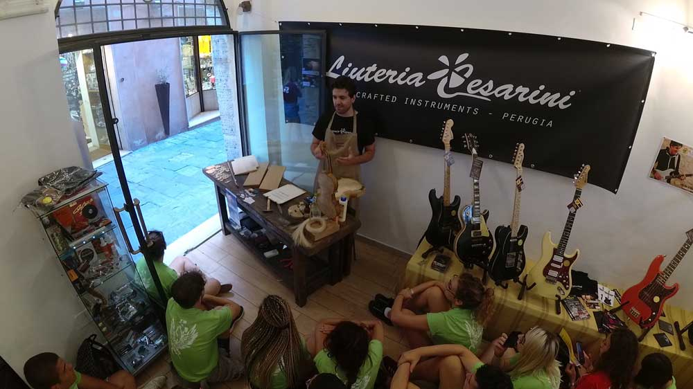 Temporary exhibition of instruments at Umbria Jazz