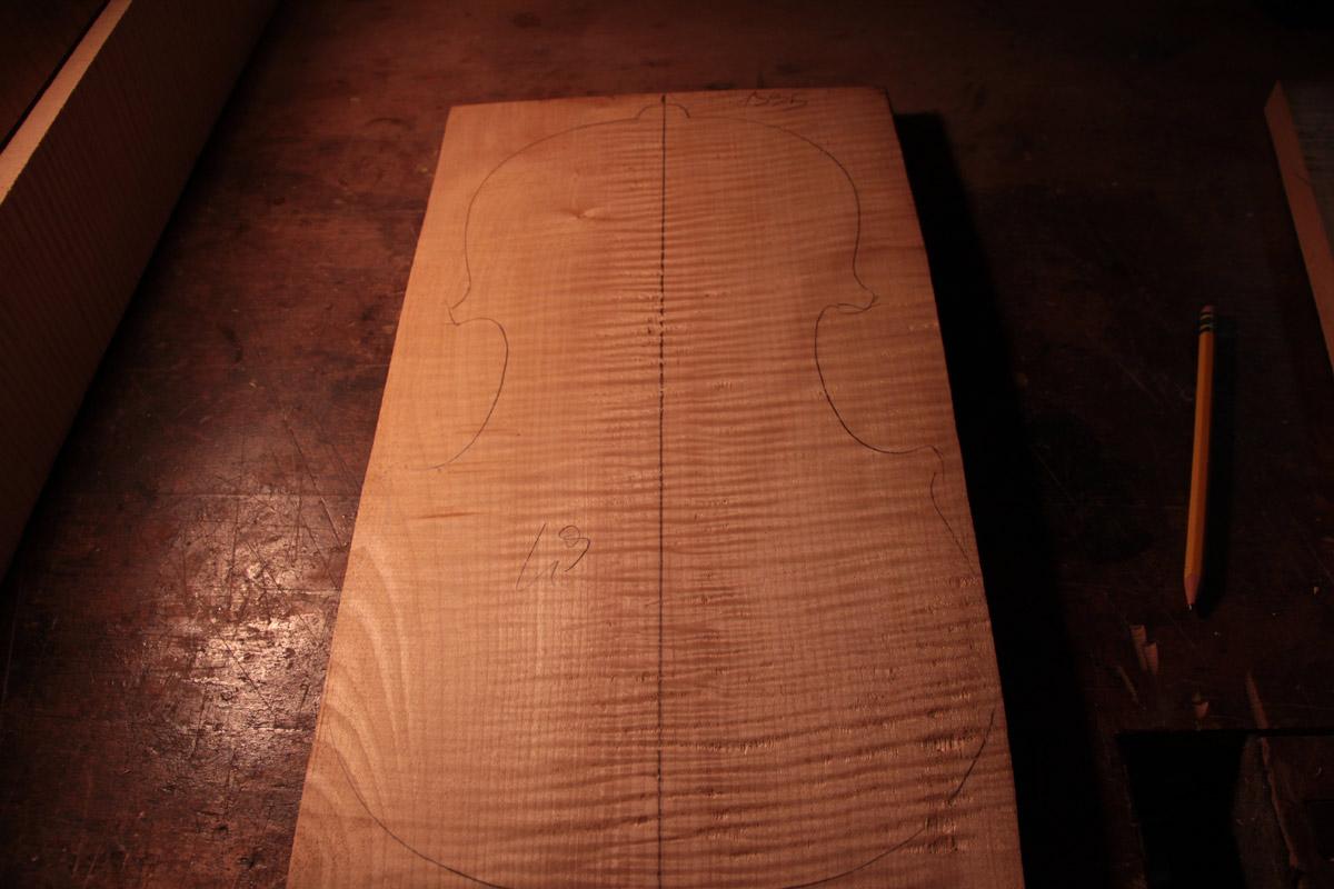 Acero Marezzato - taglio pezzo unico radiale - violino 1990-1995