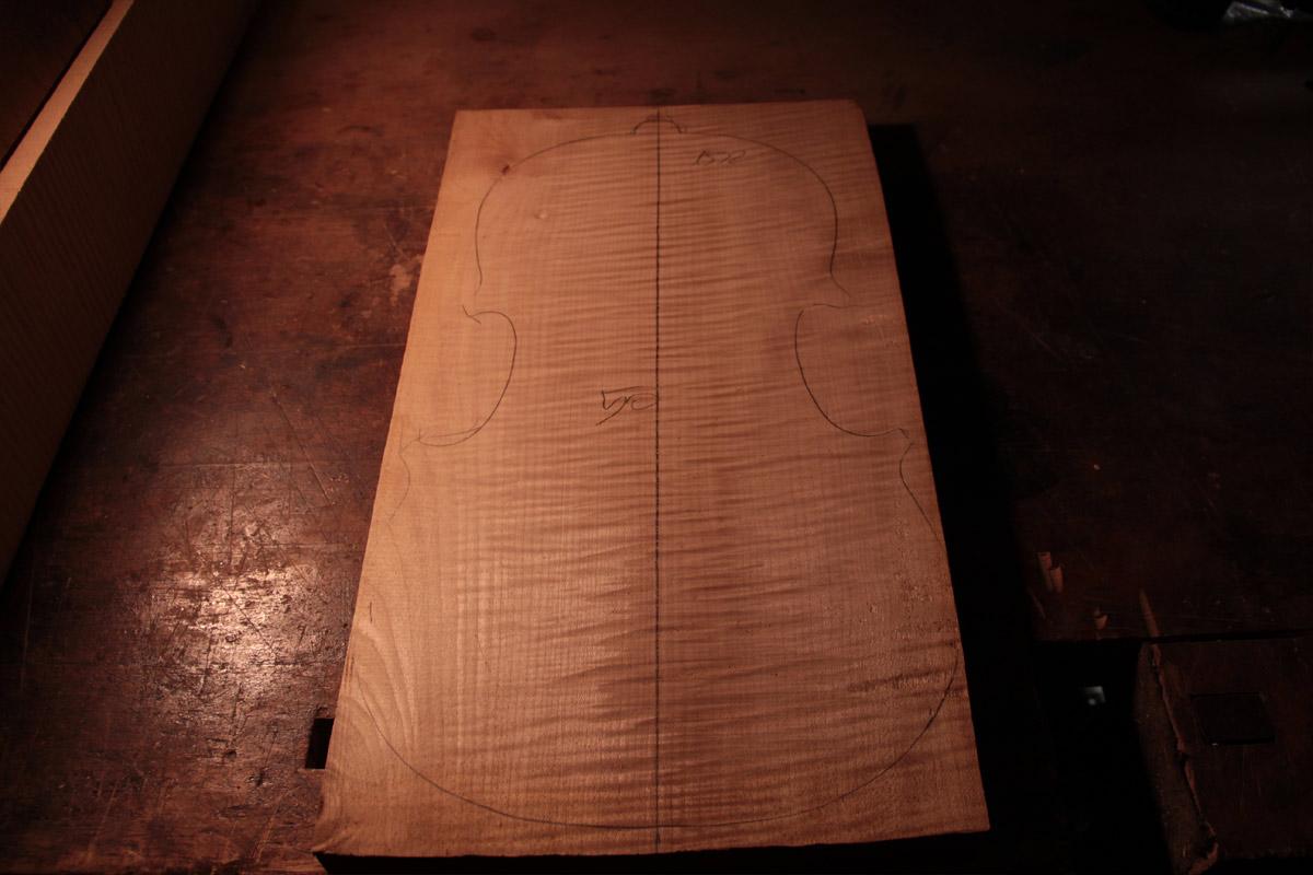 Acero Marezzato - taglio pezzo unico radiale - violino 1990-1995 (2)
