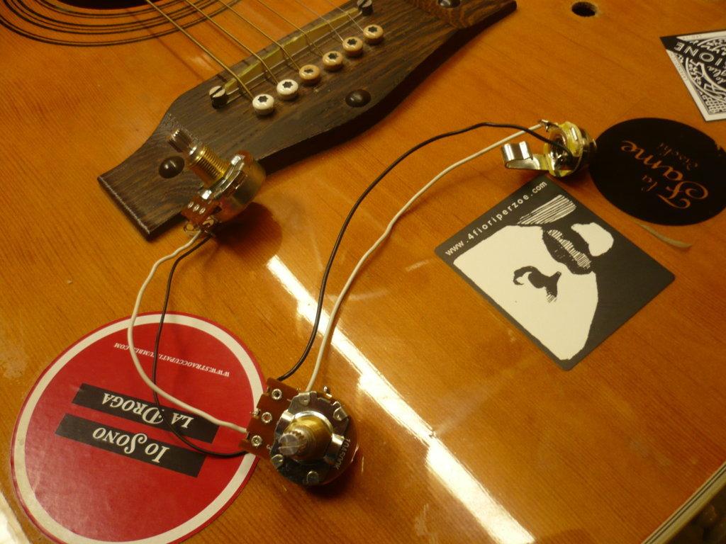 Circuito passivo tono e volume