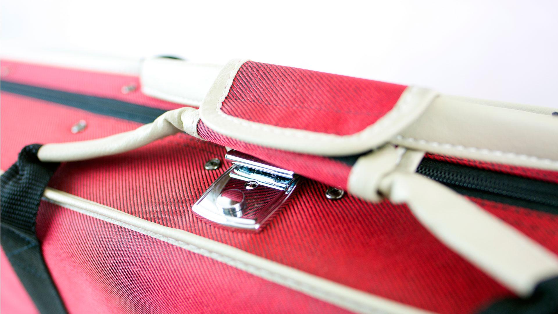 Custodia per violino Deluxe red (maniglia laterale)