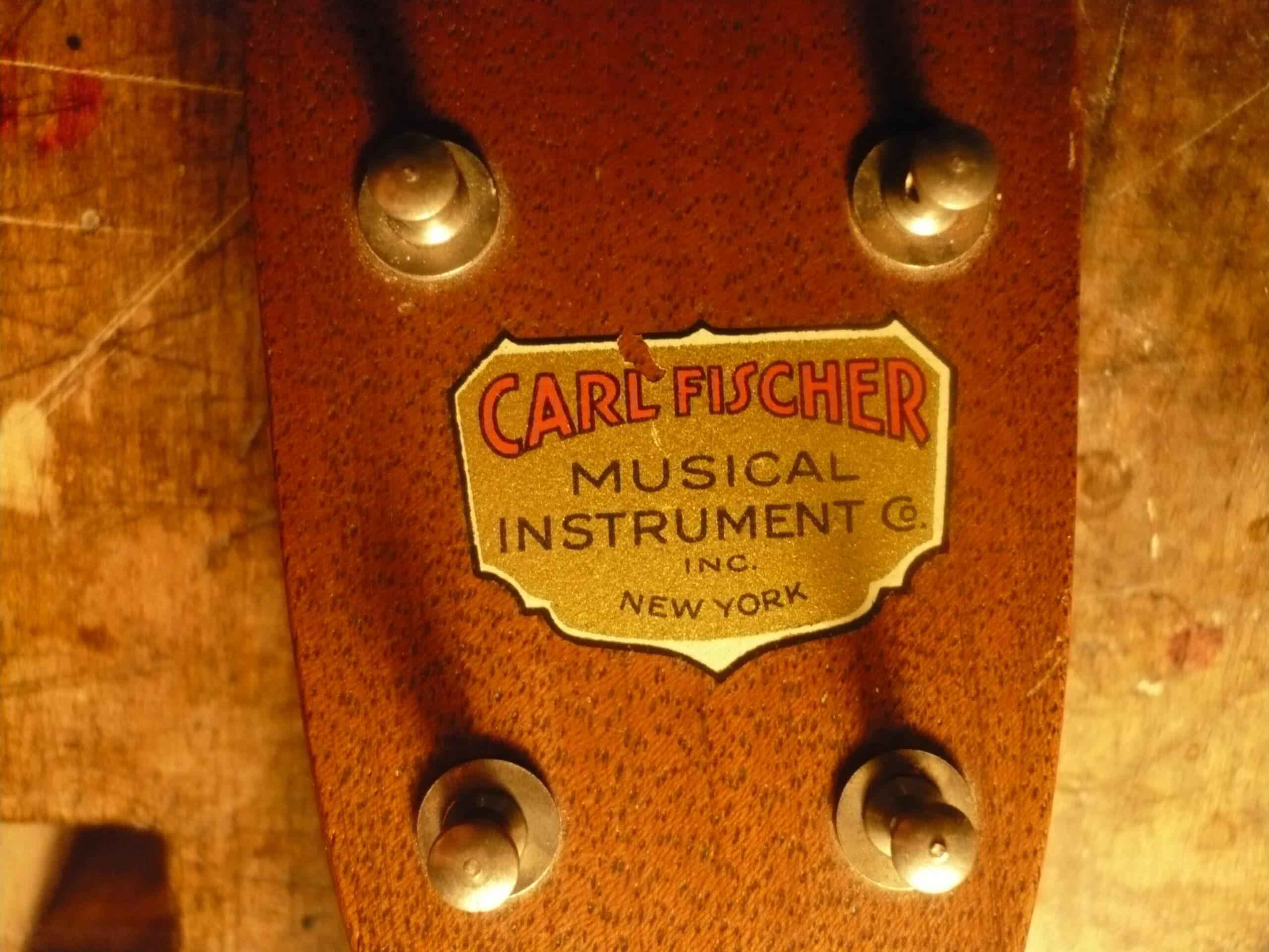 Vintage ukulele restoration Carl Fisher