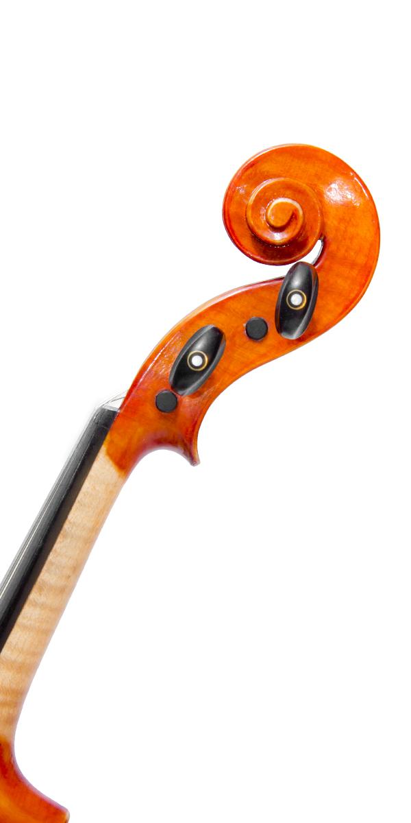 Violino artigianale Cesarini, riccio