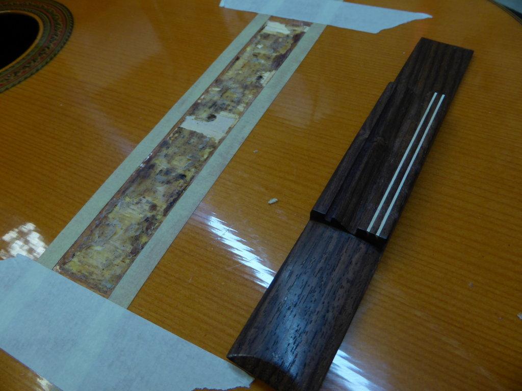 Unglued bridge, luthier services