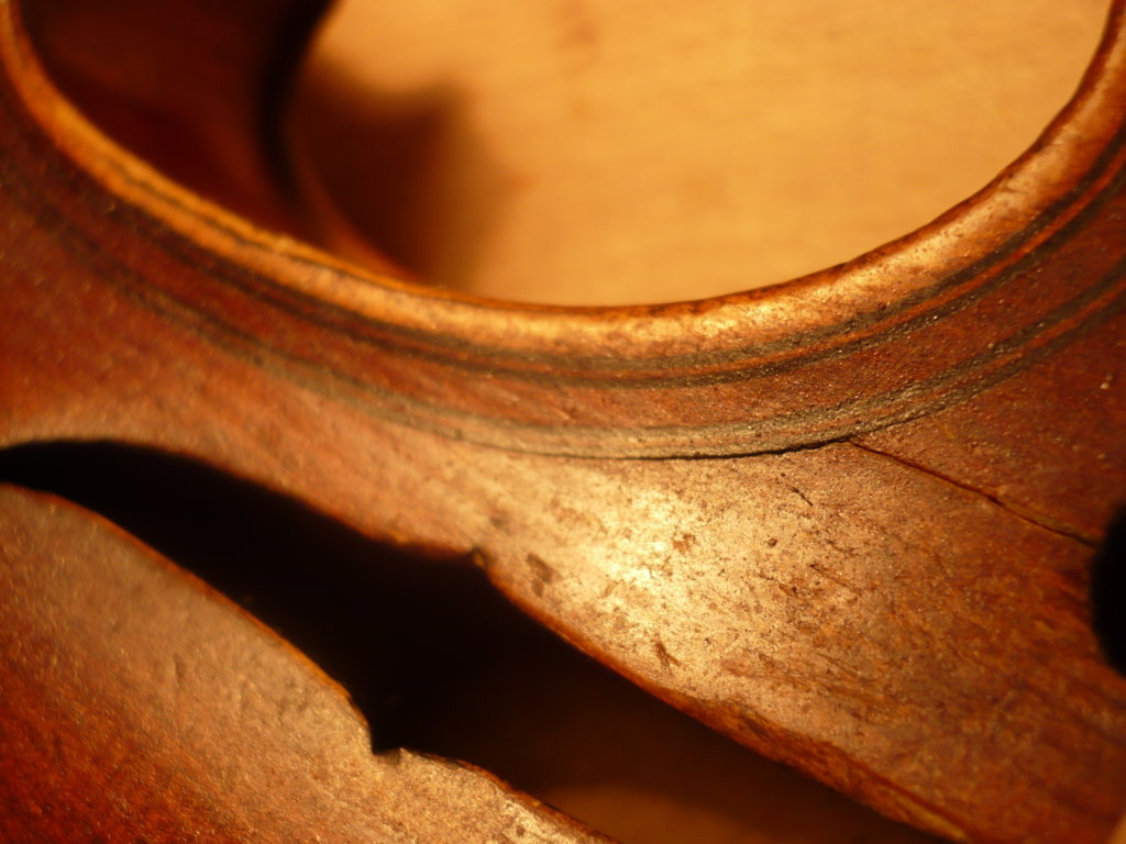 Violin crack, luthier service